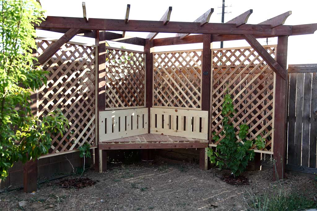 DIY Garden Arbor with a Bench