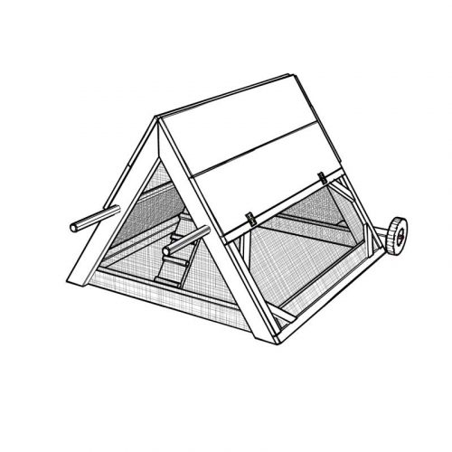 DIY mobile triangle-shape chicken coop