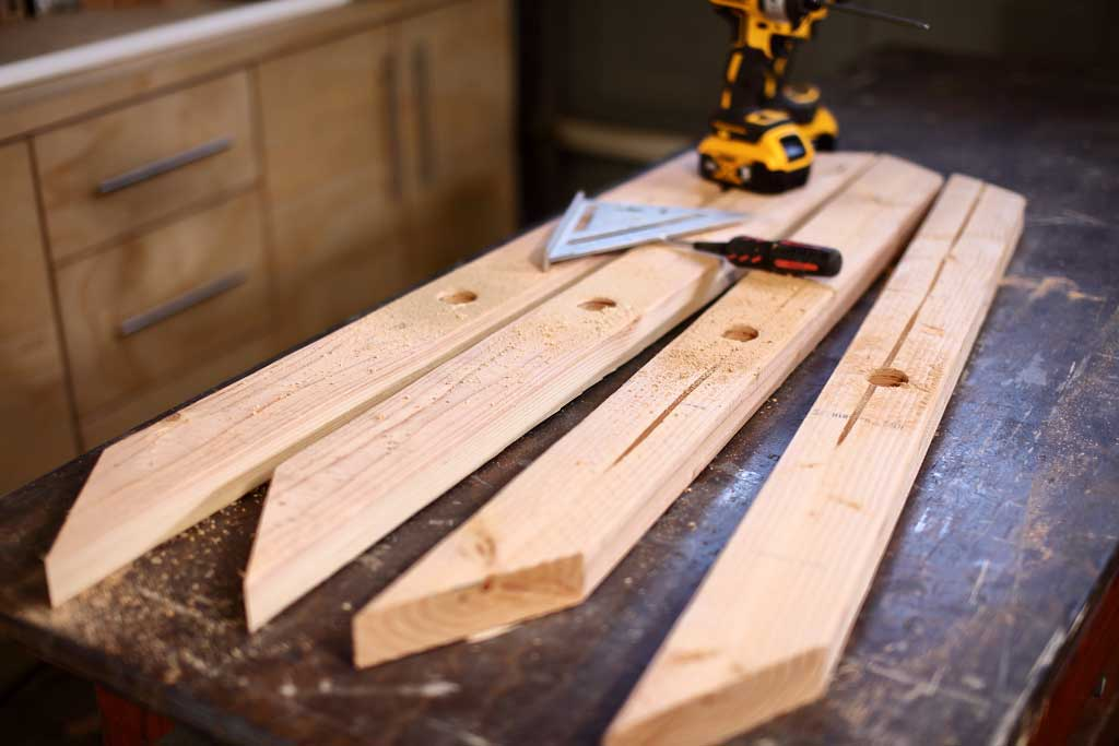 cutting boards for chicken coop frame
