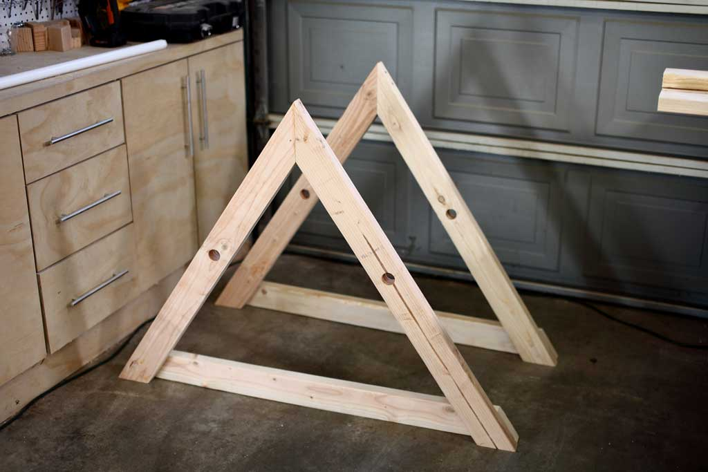 triangle frame for chicken coop