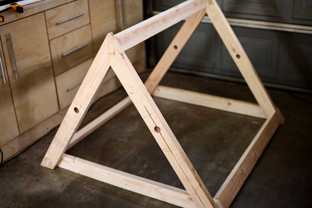 building a frame for mobile chicken coop