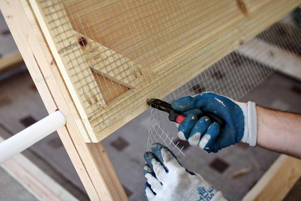 cutting wire mesh screen