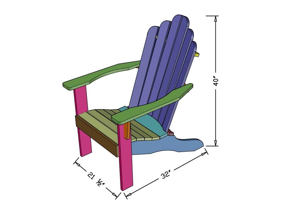 DIY Adirondack Chair dimensions