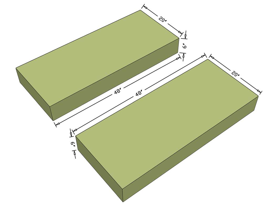 cutting cushions for outdoor sofa