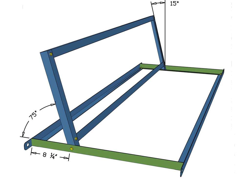 attaching metal backrest frame