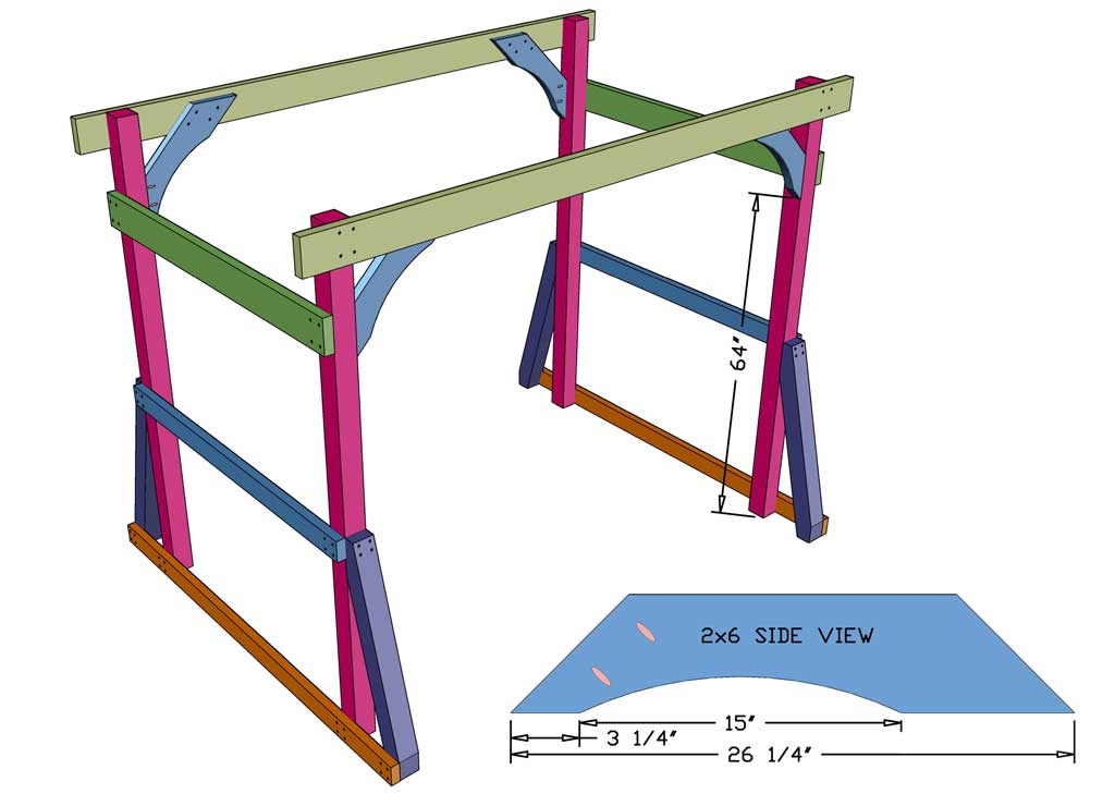 attaching diagonal brace for the Outdoor Arbor Swing