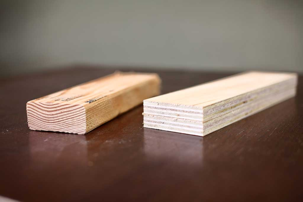 Strength of plywood vs solid wood