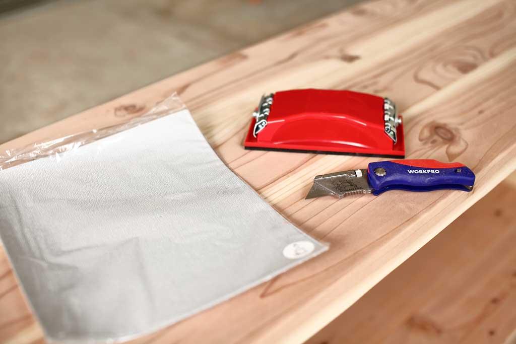 sanding block for sanding wood
