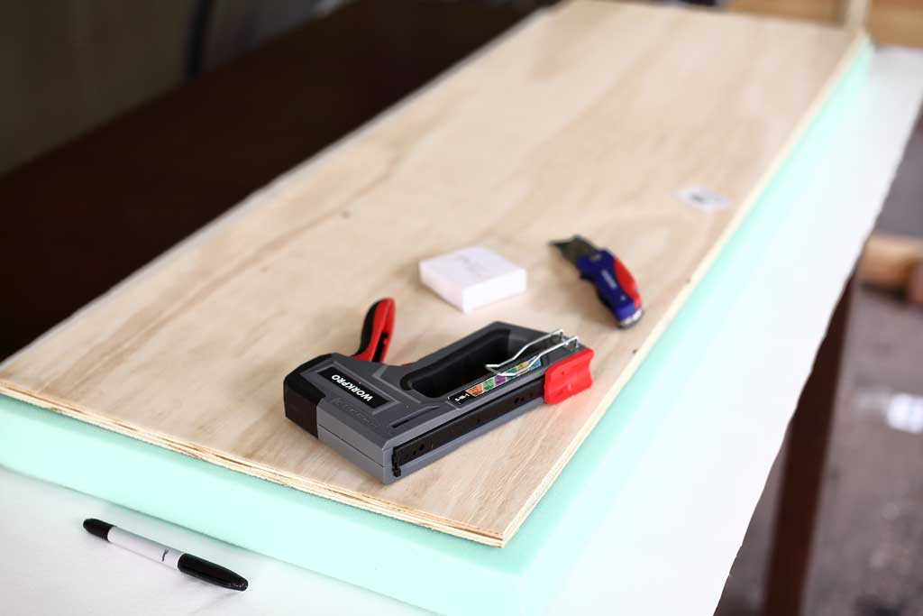 attaching fabric to plywood