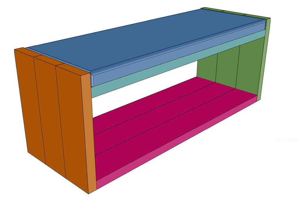 DIY Bench with Fabric Seat